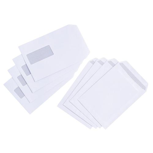 5 Star Value Envelopes Pocket Press Seal Window 90gsm C5 229x162mm White [Pack 500]