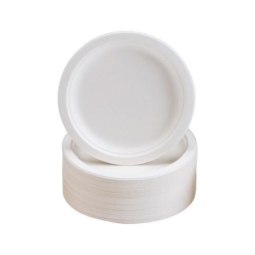Plates Rigid Biodegradable Microwaveable Diameter 180mm [Pack 50]