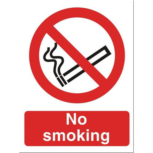 Stewart Superior No Smoking Sign W150xH200mm Self-adhesive Vinyl Ref P089SAV