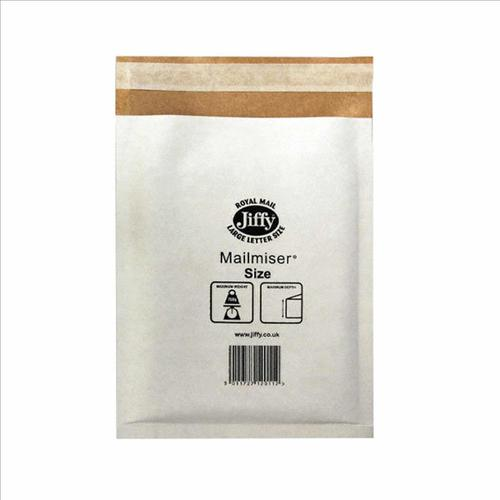 Jiffy Mailmiser Protective Envelopes Size 6 Bubble-lined 290x445mm White Ref JMM-WH-6 [Pack 50]