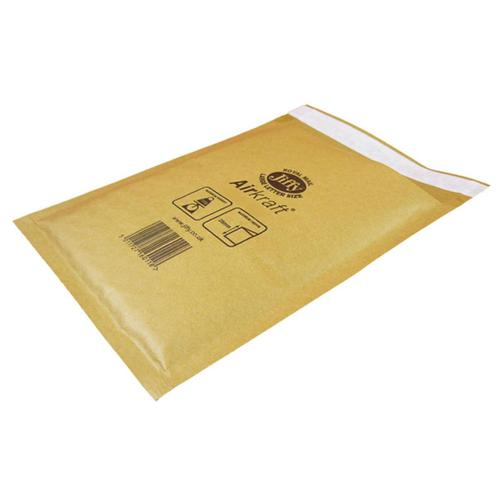 Jiffy Airkraft Bubble Bag Envelopes Size 4 Peel and Seal 240x320mm Gold Ref JL-GO-4 [Pack 50]