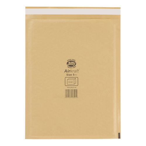 Jiffy Airkraft Bubble Bag Envelopes Size 5 Gold 260x345mm Ref JL-GO-5 [Pack 50]