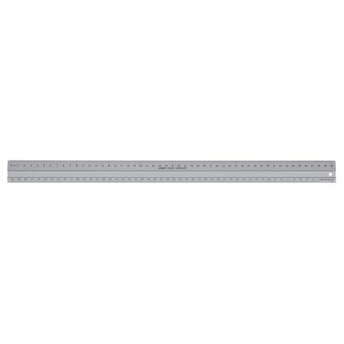 Linex Hobby Cutting Ruler Anti-slip Light Aluminium 1 Bevelled 1 Plain Side 500mm Silver Ref 1950M
