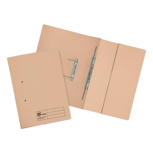 5 Star Elite Transfer Spring Pocket File Heavyweight 315gsm Foolscap Buff [Pack 25]