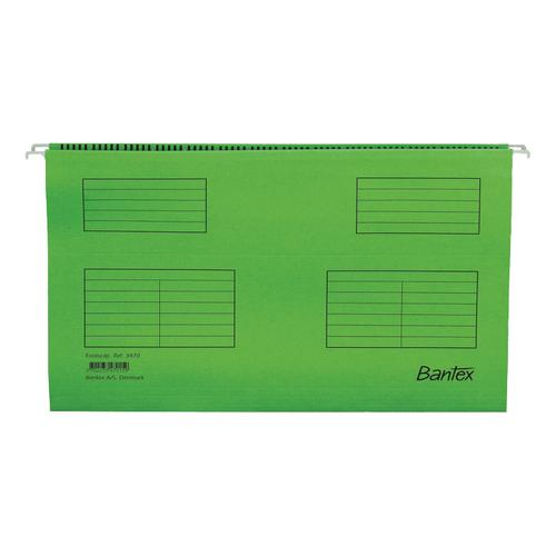 Bantex Flex Suspension File Kraft V-Base 15mm 220gsm Foolscap Green Ref 100331441 [Pack 25]