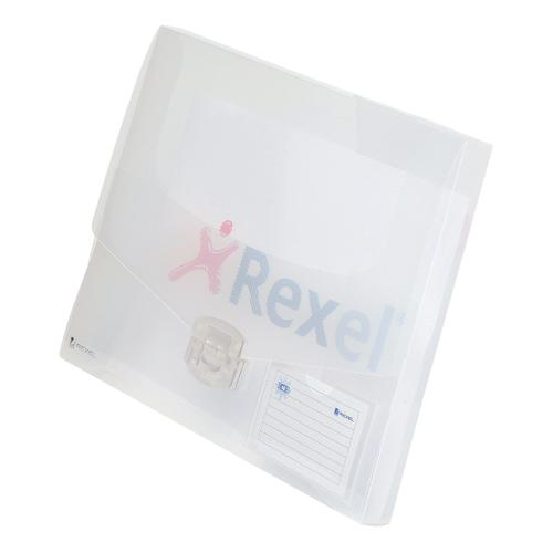 Rexel Ice Document Box Polypropylene 40mm A4 Translucent Clear Ref 2102029 [Pack 10]
