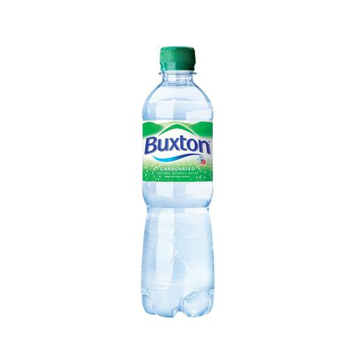 Buxton Natural Mineral Water Sparkling Bottle Plastic 500ml Ref  [Pack 24]