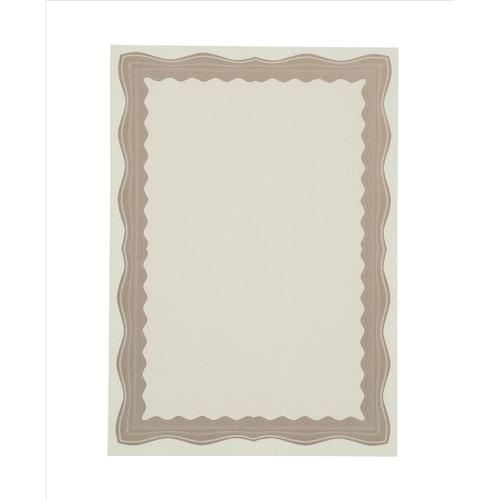 Certificate Papers with Foil Seals 90gsm A4 Bronze Wave [30 Sheets]