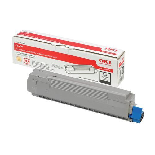 OKI Laser Toner Cartridge Page Life 6000pp Black Ref 43487712