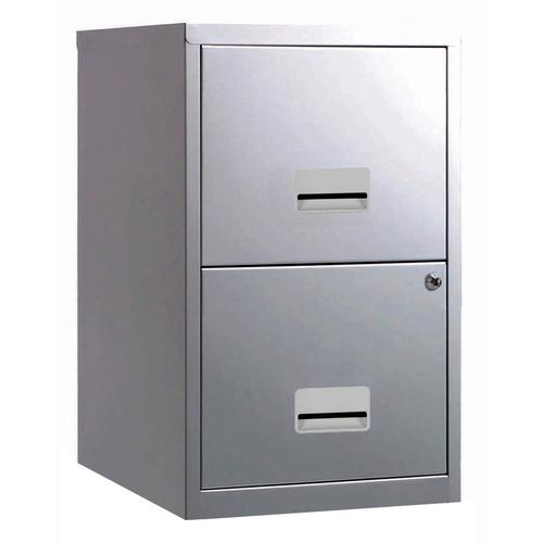 Filing Cabinet Steel 2 Drawer A4 400x400x660mm Ref 595000