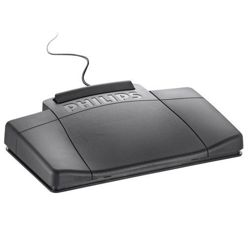 Philips 2210 Foot Control Ergonomic Slim [for Dictation Transcription Kits 720 725 730] Ref LFH2210