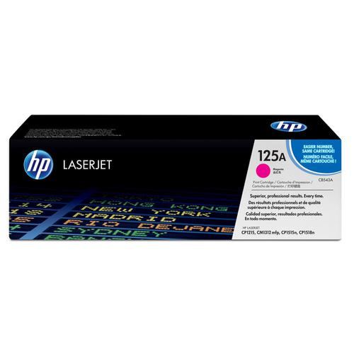 HP 125A Laser Toner Cartridge Page Life 1400pp Magenta Ref CB543A