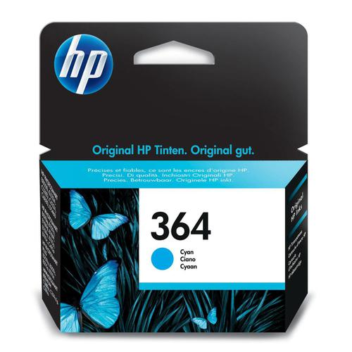 Hewlett Packard [HP] 364 Inkjet Cartridge Page Life 300pp 3ml Cyan Ref CB318EE