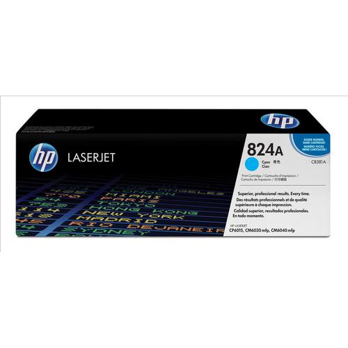 HP 824A Laser Toner Cartridge Page Life 21000pp Cyan Ref CB381A