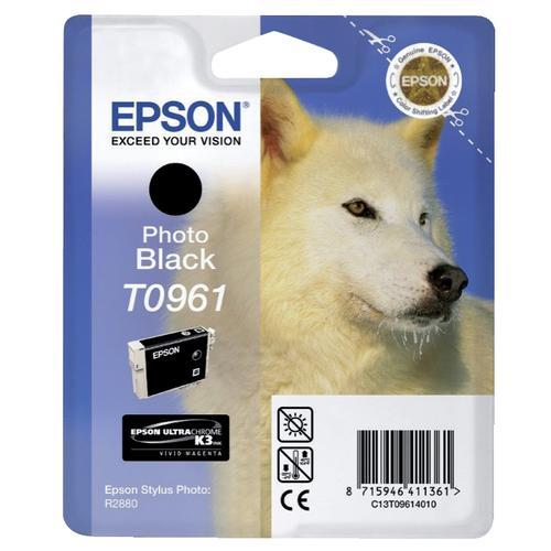 Epson T0961 Inkjet Cartridge Husky Page Life 495pp 11.4ml Photo Black Ref C13T09614010