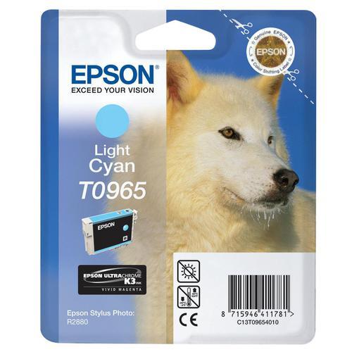 Epson T0965 Inkjet Cartridge Husky Page Life 865pp 11.4ml Light Cyan Ref C13T09654010