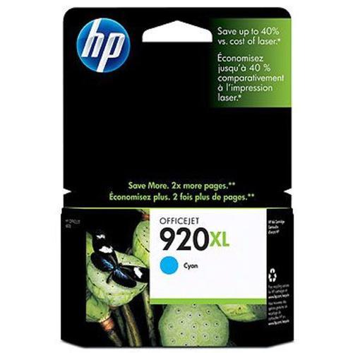 Hewlett Packard [HP] No.920XL Inkjet Cartridge High Yield Page Life 700pp 6ml Cyan Ref CD972AE