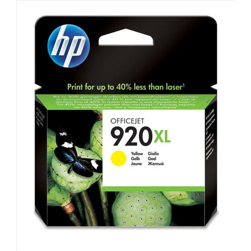 Hewlett Packard [HP] No.920XL Inkjet Cartridge High Yield Page Life 700pp 6ml Yellow Ref CD974AE