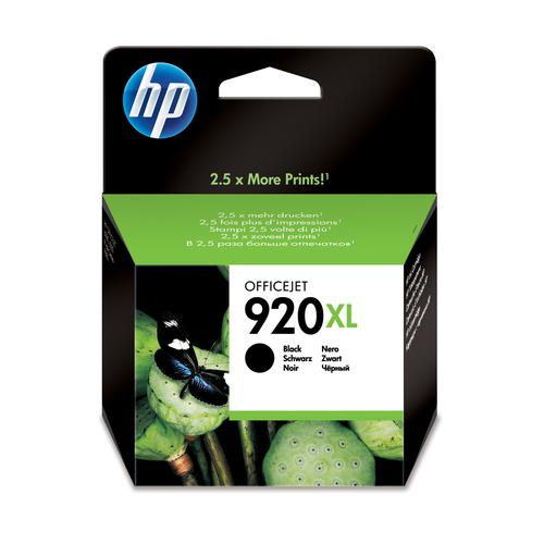 Hewlett Packard [HP] No.920XL Inkjet Cartridge High Yield Page Life 1200pp 49ml Black Ref CD975AE