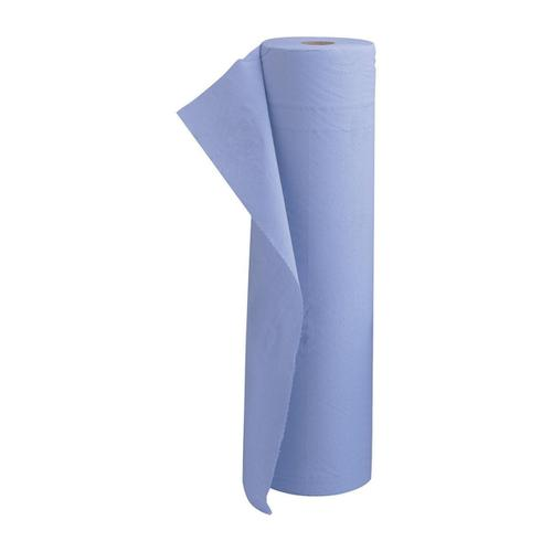 5 Star Facilities Hygiene Roll 20 Inch Width 100 Percent Recycled 2-ply 130 Sheets W500xL457mm 40m Blue