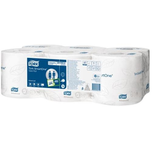 Tork SmartOne Toilet Roll 2-Ply 1150 Sheets per 207m Roll White Ref 472242 [Pack 6]