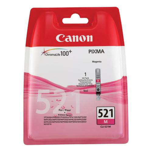 Canon CLI-521M Inkjet Cartridge Page Life 450pp 9ml Magenta Ref 2935B001AA