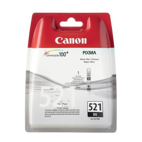 Canon CLI-521BK Inkjet Cartridge Page Life 3425pp 9ml Black Ref 2933B001AA