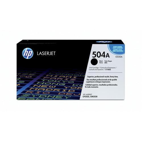 HP 504A Laser Toner Cartridge Page Life 5000pp Black Ref CE250A