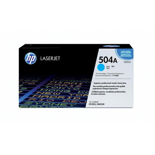 HP 504A Laser Toner Cartridge Page Life 7000pp Cyan Ref CE251A