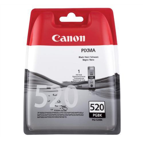 Canon PGI-520BK Inkjet Cartridge Page Life 350pp 19ml Black Ref 2932B001