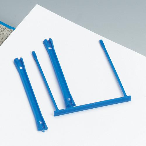 5 Star Office Filing Clip Polypropylene Blue [Pack 10]