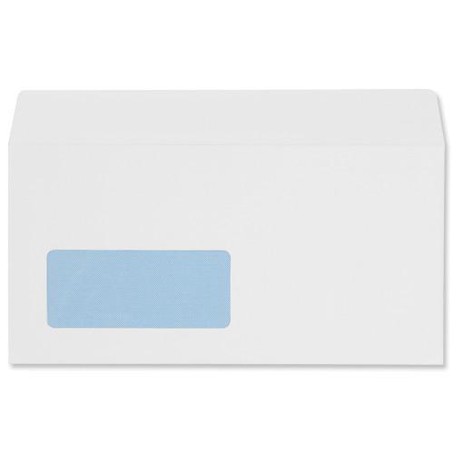 5 Star Office Envelopes PEFC Wallet Peel & Seal Window 100gsm DL 220x110mm White [Pack 500]