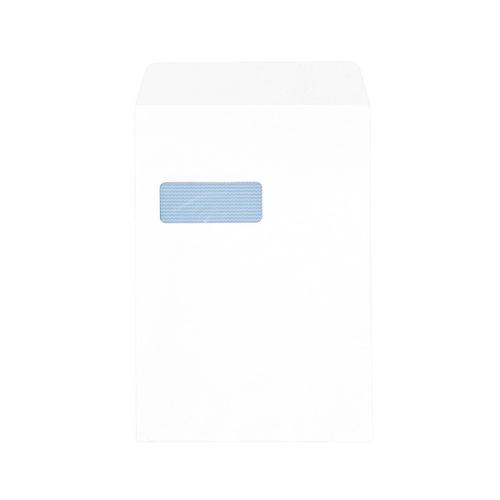 5 Star Office Envelopes PEFC Pocket Peel & Seal Window 100gsm C4 324x229mm White [Pack 250]