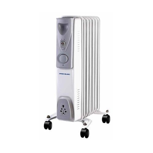 1.5kW 7 Fin Oil Filled Radiator White Ref HG01186