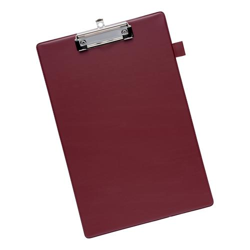 5 Star Office Standard Clipboard with PVC Cover Foolscap Dark Red