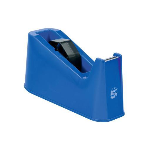 5 Star Office Tape Dispenser Desktop Weighted Non-slip Roll Capacity 25mm Width 75m Length Max Blue