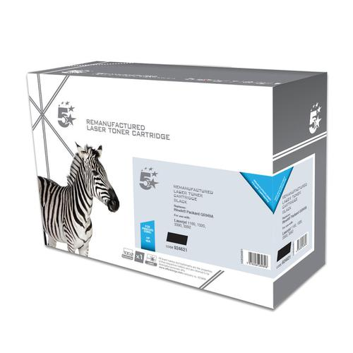 5 Star Office Remanufactured Laser Toner Cartridge HY Page Life 2500pp Black [HP 49A Q5949A Alternative]