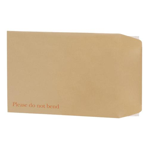 5 Star Office Envelopes Recycled Board Backed Hot Melt Peel & Seal 350x248mm 120gsm Manilla [Pack 125]