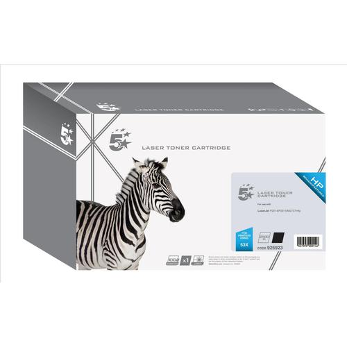 5 Star Office Remanufactured Laser Toner Cartridge HY Page Life 7000pp Black [HP 53X Q7553X Alternative]