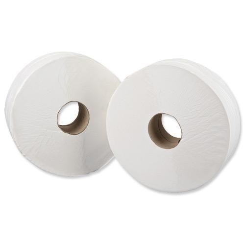 5 Star Facilities Jumbo Toilet Roll 2-ply Sheet Size 250x92mm 410m White [Pack 6]
