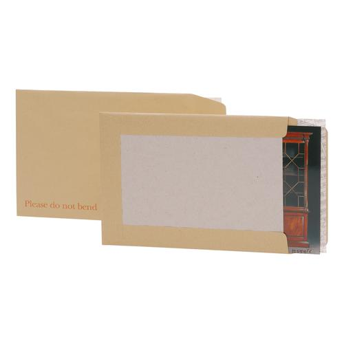 5 Star Office Envelopes Recycled Board Backed Hot Melt Peel & Seal C3 457x324mm 120gsm Manilla [Pack 50]