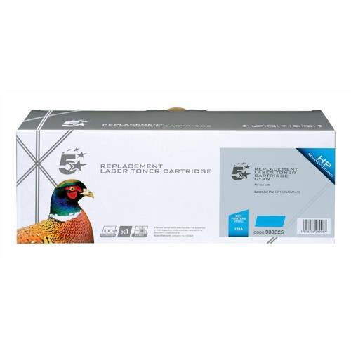 5 Star Office Remanufactured Laser Toner Cartridge Page Life 1300pp Cyan [HP No. 128A CE321A Alternative]