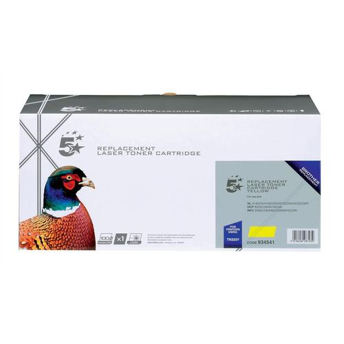 5 Star Office Remanufactured Laser Toner Cartridge Page Life 3500pp Yellow [Brother TN325Y Alternative]