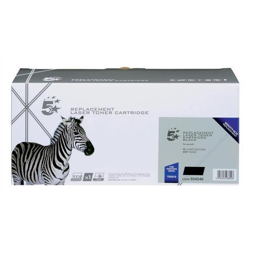 5 Star Office Remanufactured Laser Toner Cartridge Page Life 1000pp Black [Brother TN2010 Alternative]