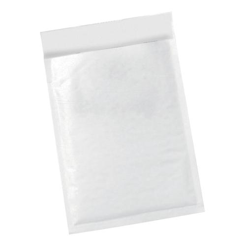 5 Star Office Bubble Lined Bags Peel & Seal No.00 115 x 195mm White [Pack 100]