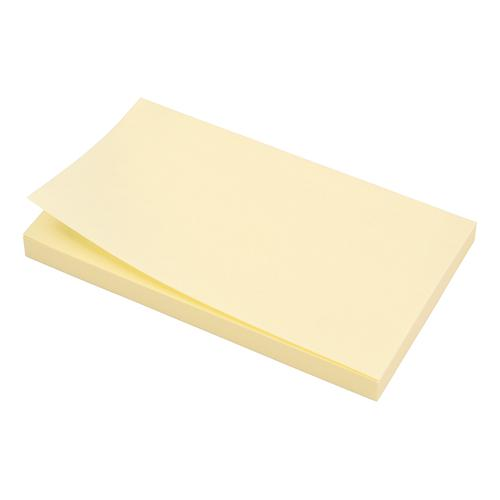 5 Star Office Extra Sticky Re-Move Notes Pad of 90 Sheets 76x127mm Yellow [Pack 12]
