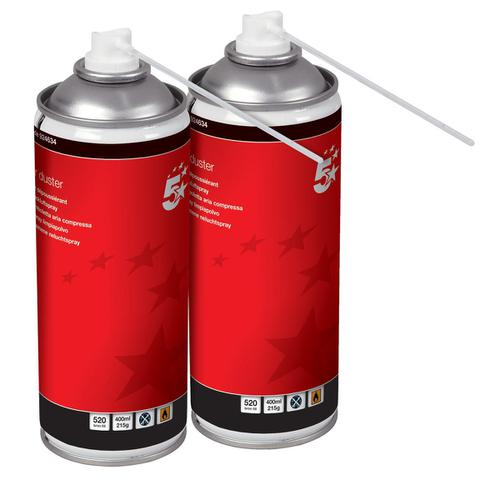 5 Star Office Air Duster Flammable [Pack 2]