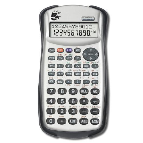 5 Star Office Scientific Calculator 2 Line Display 279 Functions 84.5x19x164.5mm Silver/Black