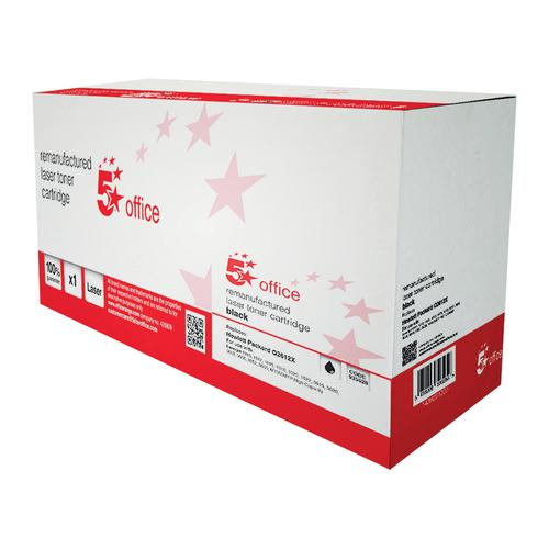 5 Star Office Remanufactured Laser Toner Cartridge 4000pp Black [HP 12X Q2612X Alternative]