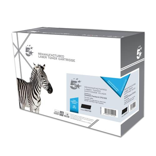 5 Star Office Remanufactured Laser Toner Cartridge HY Page Life 2400pp Black [HP 131X CF210X Alternative]